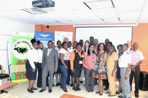 Partial group photo - Montego Bay airport