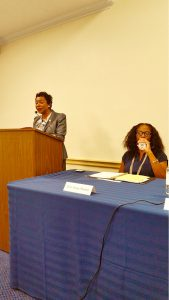 Reps Yvette Clarke (D-NY) and Stacey Claskett (D-VI)