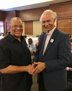 Amb. Ward greets Dr. Phillips at NAJASO Convention