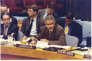AMb. Ward speaking in United Nations Security Council debate ( 2001)