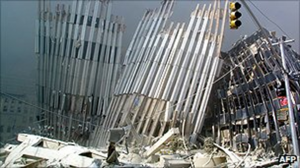 Ground Zero - WTC after towers collapsed