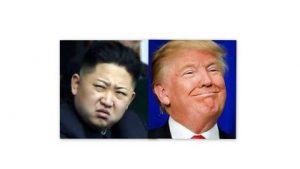 North Korean president Kim Jong-un & U.S. president Donald Trump