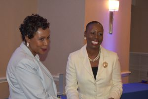 Congresswoman Clarke & Dr. Goulda Downer, Chair of C-PAC
