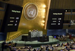 UNGA Vote on Jerusalem