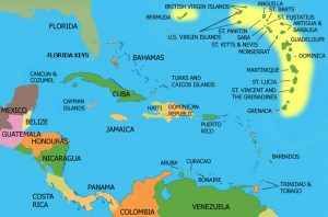 Venezuela's location straddles South America and the Caribbean