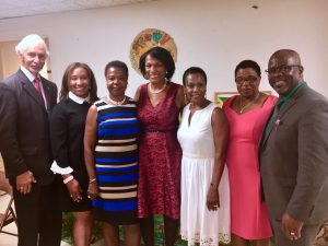 Amb. Curtis Ward & Mrs. Sonia Ward with members of the RJO following Independence Church Service.
