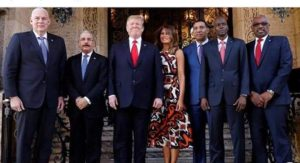 President Trump & First Lady with Caribbean leaders at Mar-a-Lago