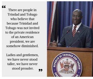 Dr. Hon. Keith Rowley, Prime Minister, Trinidad & Tobago